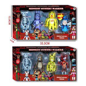 Five Nights At Freddy's FNAF with Light Action Figures Toys Foxy Fazbear Bear Night Freddy PVC Figure Kids Toys