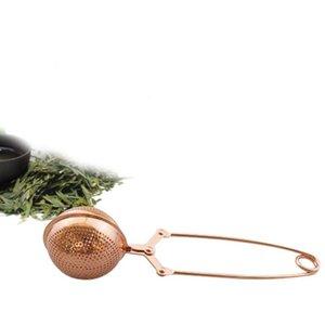 Teesieb Roségold Teesieb Edelstahlkugel lose Blatt-Tee-Filter SS heißen Verkauf BWE1212
