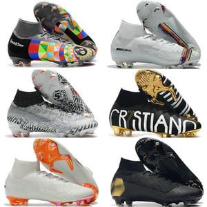 Mercurial Superfly VI Soccer Shoes 360 Elite FG KJ 6 XII 12 CR7 SE Ronaldo Neymar Mens Women Boys Outdor Football Boots Cleats