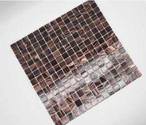2021 hot sale Factory direct selling toilet Hotel KTV decoration mosaic bathroom hot melt black gold line tile mosaic tile