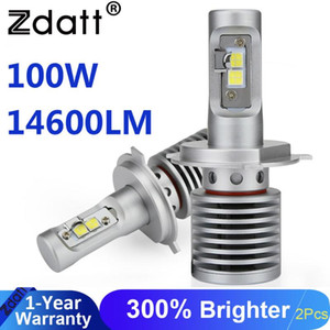 ZdaH4 LED 3 Led Lamps 9005 Car Headlight Bulbs 100W 14600LM 12V 6000K Automobiles Fanless Super Bright Bulbs