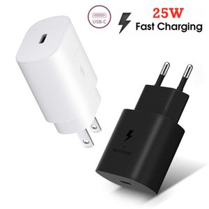 Type c Wall Charger 25W Super Fast Charge Eu US Ac Home Travel Wall Chargers Power Adapter For Samsung