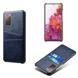 Adequado para Samsung Galaxy S20fe 5G Caso de telefone móvel, caso de telefone celular com cartão duplo, caixa de proteção do telefone móvel e caso de couro