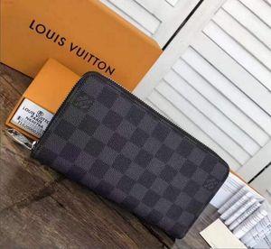 a2 New Fashion Women Wallet Purse High Quality Leather Double zipper Wallet Men Long Wallet Card holder Clutch bag QS1P 5HV8