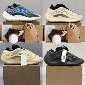 Eur 36-48 Ash Blue Pearl Stone Fade Carbon Natural Black Static Reflective v2 Kanye West Chaussures de course pour hommes Baskets pour femmes Baskets de golf