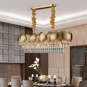 Modern LED Crystal Ceiling Lights Art Indoor Lighting For Kitchen Bar Living room Dining room Lights Nordic Ceiling Lamps Led