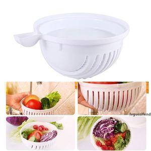 Practical 60-Seconds Salad Maker Cutter Bowl Fruit Vegetable Washer Salad Cutter Easy Salad Maker Fruit Vegetables Chopper Bowl Kitchen NB