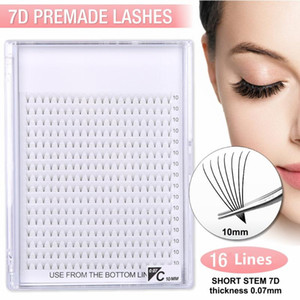 Bigger trays 16 Lines Best Premade volume fans 7D Lashes Pre-made Russian Volume Eyelash Extensions