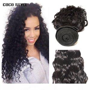 Acquazzone umano Wave Bundles Brasilian Hair Weave 4 Bundle Offerte 100% Real Human Hair Extensions Natural 1b Non remy
