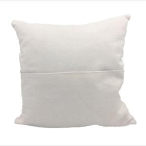 Sublimación en blanco caja de la almohadilla los 40 * 40cm sólido libro de bolsillo de color beige de almohada cubierta personalizada de poliéster blanco de lino del amortiguador de la cubierta principal Suppl