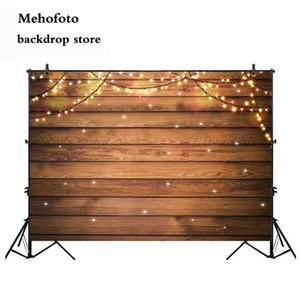 Mehofoto Вуд Свадебная фотография Блеск фоны Dark Brown Деревянные стены фона Фото Компьютер студии Printed Баннер 840