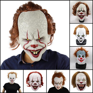 Silikon-Film von Stephen King It 2 ​​Joker Pennywise Full Face Horror Clown Latex-Masken-Halloween-Party-Horrible Cosplay Prop Masken OWE256