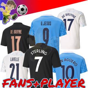 2020 2021 maglie di calcio della città 20 21 camicia dell'uomo STERLING di calcio Manchester KUN AGUERO De Bruyne GESUS BERNARDO Mahrez RODRIGO Player versione