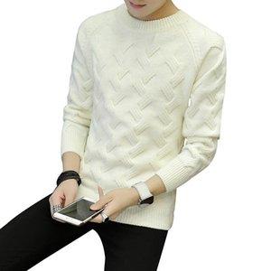 Noir épais blanc chandail à Leeve pour hommes solides en vrac mode Pull tricoté Japan Style Mens Designer