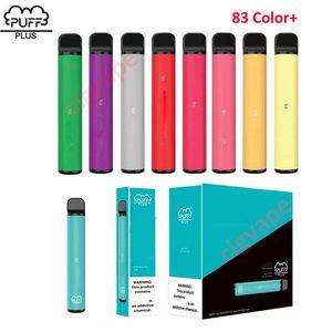 퍼프 플러스 베스트 일회용 vape 펜 싸구려 퍼프 바 플러스 가격 퍼프 흐름 XXL Xtra 83 색상 배송 준비