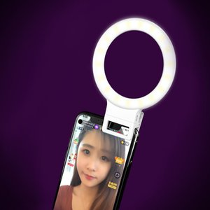 Hot Ring Lights LED Circle Lamp Cell Phone Camera Photography Video Night Light Clip On Rechargeable