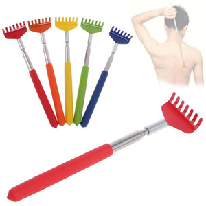 Stainless Steel Back Scratcher Telescopic Portable Adjustable Size Extend Itch Scratch Tool With Soft Grip Wholesale