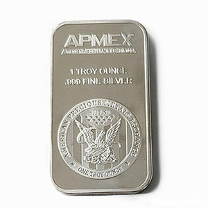 Envío libre 1 OZ APMEX la moneda de plata plateado de metal bar Mint barra del lingote para los regalos de recuerdo Home Collection