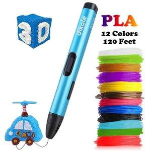 Dikale 3D Printing Pen 5V DIY 3D Pen Pencil USB Charging 3D Drawing Pens Free PLA Filament For Kids Education Modeling Toys Gift 201214