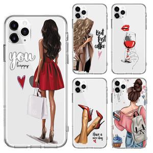 Мода Красивая девушка Pattern чехол для iPhone 11 Pro Clear Soft Phone Cover для iPhone 12 6S 7 8 Plus X XR XS Max SE 2020 Капа