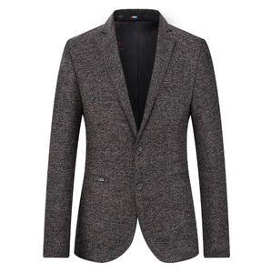 Men Casual Suits Jackets Fashion Brand Men's Business 4XL Plus Size Solid Color Masculinos