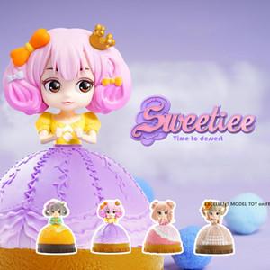 Милый Sweetiee Candy Princess Doll Toil, слепой ящик, Торт Преобразование к красивой девушке, 4 стиля, орнамент Рождественские девчонки Девушка Девушка, собирать, 2-1