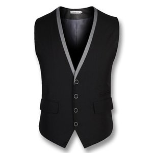 Hot Sale Real High Quality Business Men Dress Vests Blazers Jackets Men's Casual Fashion Slim Fit Sleeveless Suit Wedding