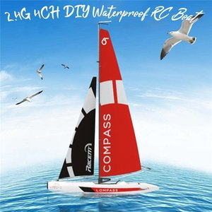 VolantExRC 791-1 65 cm 2.4G 4CH RC Barca a vela pre-assemblata senza batteria giocattolo per batteria rc Tiny regalo presente giocattoli per bambini 201204
