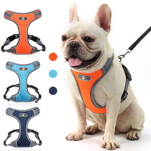 Pet Dog Harnesses Night Reflective Safety waistcoat pet harness with D ring Dog Vest Dogs Supplies will and sandy new