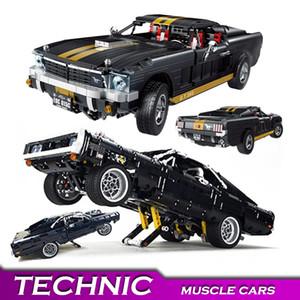 Technic Chargeur Muscle Building Blocks RC Lumière Créateur Expert Ville super briques voitures Set d'enfants d'enfants modèle de véhicule Jouets cadeau 1008