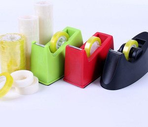 Creative color stationery tape holder office supplies small transparent tape easy cutter tape machine.