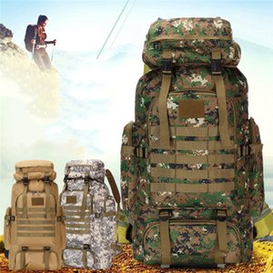 80L Waterproof Camo Tactical Backpack Military Army Hiking Camping Backpack Travel Rucksack Outdoor Sports Climbing Bag Y200920