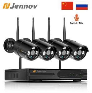 Jennov Wifi IP Camera 1080P 2MP 4CH Outdoor Security Camera System Video Surveillance Kit Wireless CCTV Set NVR Night View P2P1