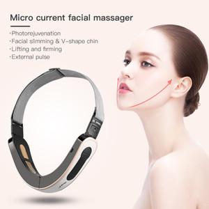 Ckeyin Professional Beauty Instrument mit externen Elektrodenpads Schönheits-Maschine mit 5 Massage-Modi Gesichtsmassage