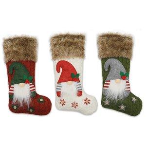 3D Peluche Swedish Gnome Calzata di Natale calze per camino Appeso Decorazioni Xmas Tree Gambe Gastron Borse regalo