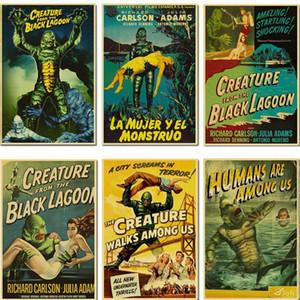 O Monstro da Lagoa Negra Film Kraft Paper / Wall Decor / Bar Poster / Pintura Decorativa / Poster Retro