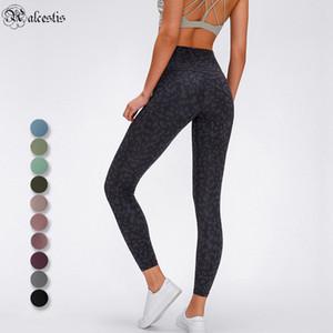 Femmes High Taille Pantalon de Yoga Sports Gym Pantalon Fitness Rouge Running Leggings Couleur Unie Couleur Casual Pantalons longue