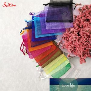 50Pcs tulle Organza Bag Wedding Party Decoration Pounch Packaging Gift Bags Eugen yarn bag 6x8 8x11 10x15 12x17 19x29cm6z