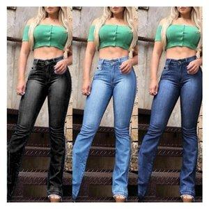 Püsküller İnce Kadın Jeans Bell Bottomed Katı Renk Pantolon Gevşek Flare Nedensel Popüler Sonbahar Yeni Stil Kadın Jeans Wear