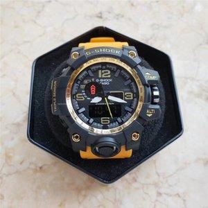 LuxuxMens Uhr Digital-LED Sport-Mann-G Outdoor-elektronische Uhren Shock Dual Display analoge Armbanduhr Montre Homme