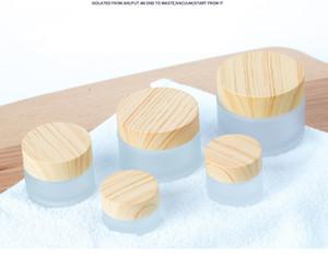 Madera botellas crema de grano helado botellas claras máscara viaje caja de cosmético de emulsión líquido portátil frascos de 5 g 10 g 15 g 30 g 50 g 100 g