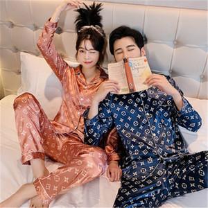 BZEL Çiçek Baskılı pijamalar Bayan Çift Pijama Pijamas Kadınlar Saten Pijama Kadın Ev Giyim İpek Pajama Ev Suit Büyük Boy Dropshi # 201