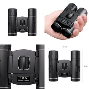 40x22 HD Double Barrel Binoculars Mini High Definition Outdoor Travel Camping Hiking Binocular Camera Photo Accessories 30cy M2