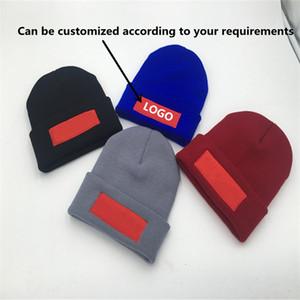 Модельер зимой на открытом воздухе вязаные шапки для мужчин и женщин теплые шерстяные шляпы с керлинг письма вышивки шапки пуловеры Beanie шляпы