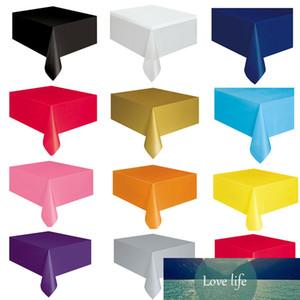 1Pack Pure Color monouso Partito 137x183cm Tovaglia per un anno vecchio tema della festa di compleanno tabella della copertura del panno Decor