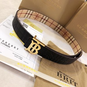 New brand buckle belt mens Belt real leather belts fashion Belt high quality Men Women business waistband with Box free shippping 132