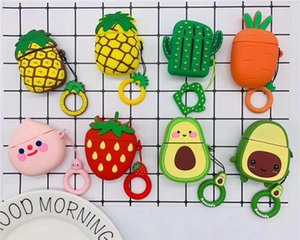 Pineapple Pineapple Watermelon banana Avocado cartoon For Airpods Cases Silicone Soft Protector Airpods Cover Earpod Case air pods airpod