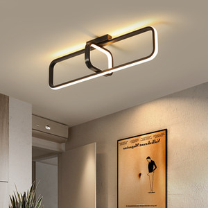 Nordic Modern Small Ceiling Light For Home Cloakroom Entrance Door Corridor Hallway Bedroom Led Ceiling Lamp Balcony Lamp BlackRectangle Cei