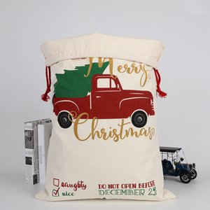 Christmas Gift Bags Santa Sacks Drawstring Candy Bag Christmas-themed Printed Bag Designs Bulk in Stock LLS598