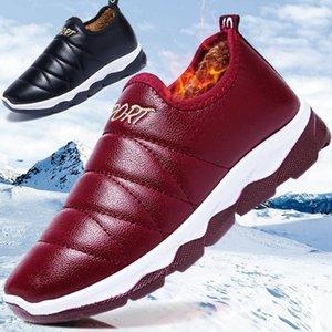 Waterproof Women Winter Shoes Couple Snow Boots Warm Plush Fur Inside Antiskid Bottom Keep Warm Mother Casual Boots